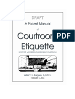 A Pocket Manual of Courtroom Etiquette (February 25, 2016 Draft)