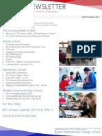 BIFS Newsletter, 2016-01-22 (English)