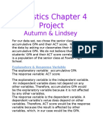 statistics chapter 4 project