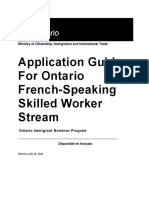 Ontario French Skillworker Guideline