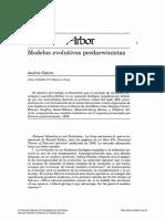 modelos evolutivos predarwinistas