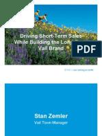 Vail's branding PowerPoint presentation