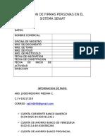 Inclusion de Firmas Personas en El Sistema Seniat