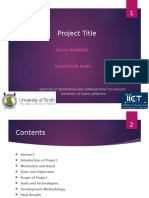 FYP Project Presentation Template