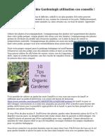 Confus au sujet de bio Gardeningh utilisation ces conseils !