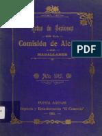 Acta de Sesiones de La Comisión de Alcaldes de Magallanes. Enero-Diciembre.1915