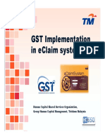 GST Guidelines in EClaim System