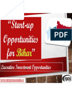 Start-up Opportunities in Bihar