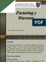 Factoring y Warrant