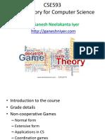 Non Cooperative Games
