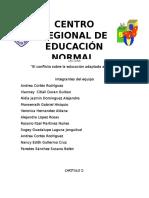 Ensayo Grupal Conflicto Educacion