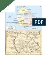 Maps of india and Sri Lanka