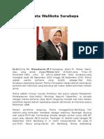 Biodata Walikota Surabaya