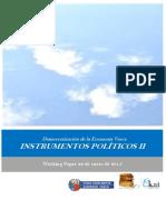 Democratizacion de la Economia Vasca. INSTRUMENTOS POLITICOS II