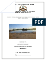 Report on Road Assesment  for wajir south sub county 2015 to 2016