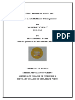 A Project Report on Direct Tax