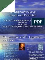 Theoretician Hamel Prahalad