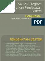 Evaluasi Program Berdasarkan Pendekatan Sistem
