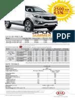 KIA Sportage Summer Edition Remat 2015
