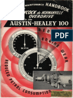 Austin Healey Operating and Maintenance Handbook a-type OD