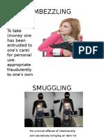 Embezzling