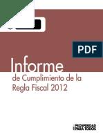 Informe Cumplimiento Regla Fiscal 2012