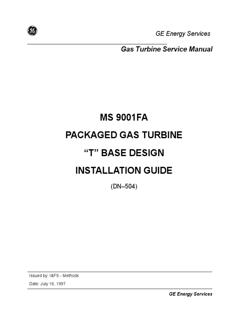 9FA Installation Guide | Duct (Flow) | Gas Turbine