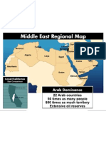 Israel in the middle east Map