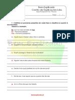 2.5 Ficha de Trabalho Pronome 2