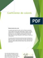 Coeficiente de Colores de Los Materiales