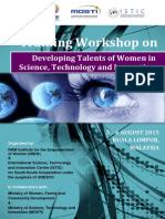 Brochure - Training Workshop on Developing Talents of Women in Science, Technology and Innovation, 3-6 August 2015, Kuala Lumpur, Malaysia.pdf