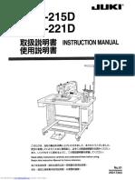 Instruction Manual Juki AMS 215D