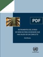 Instrumentos Del Estado de Derecho Para Sociedades Que Han Salido de Un Conflicto - Archivos