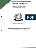Instructivo Para Regular El Desarrollo de Las Actividades en El Polgono de Tiro
