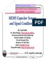 MEMS Capacitors Sensor and Signal Conditioning