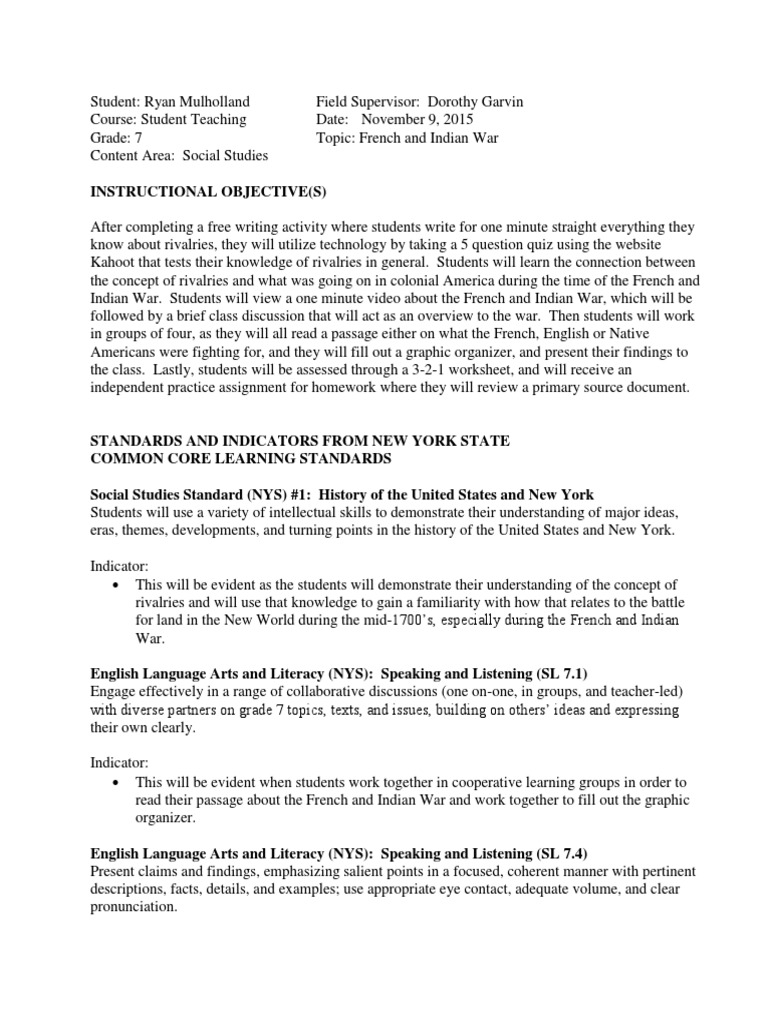 Worksheets French And Indian War Worksheet rm lesson plan french and indian war with worksheets new france ohio river