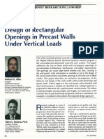 Design of Rectangular Openings in Precast Walls Under Vertical Loads
