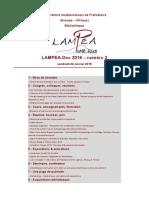 LAMPEA-Doc 2016 – numéro 2 / vendredi 22 janvier 2016