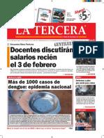 Diario La Tercera 22.01.2016