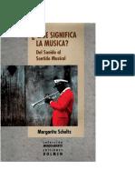 Que Significa La Musica - Margarita Schultz