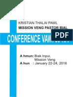 Mission Veng Pastor Bial Conference Vawi 60-Na