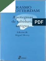 De Rotterdam Erasmo - Apotegmas de Sabiduria Antigua