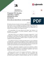 La Jornada_ Proponen ONG Fiscalías Especiales y Registro Nacional de Restos Mortuorios