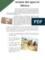 La escasez del agua en México