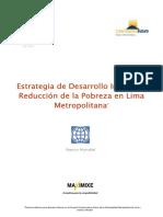 Estrategia de Desarrollo Integral y Reducción de la Pobreza en Lima Metropolitana