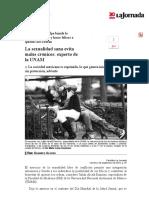 La Jornada_ La Sexualidad Sana Evita Males Crónicos_ Experto de La UNAM