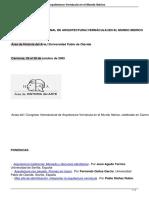 i Congreso Internacional de Arquitectura Vernacula en El Mundo Iberico