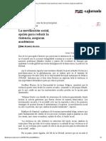 La Jornada_ La Movilización Social, Opción Para Reducir La Violencia, Aseguran Académicos