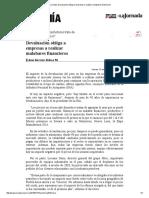 La Jornada_ Devaluación Obliga a Empresas a Realizar Malabares Financieros