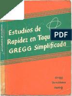 TAQUIGRAFIA Estudio Rapidez Taquigrafia Gregg Simplificada